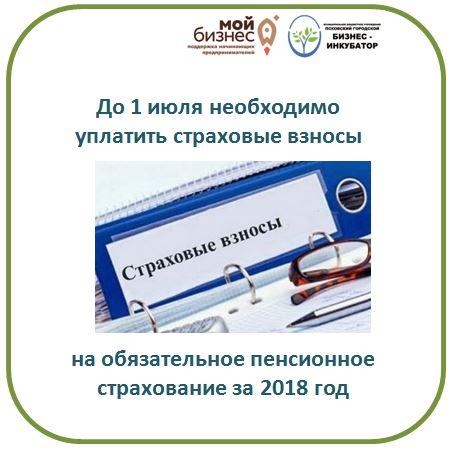 1 июля истекает срок уплаты ОПС за 2018 год