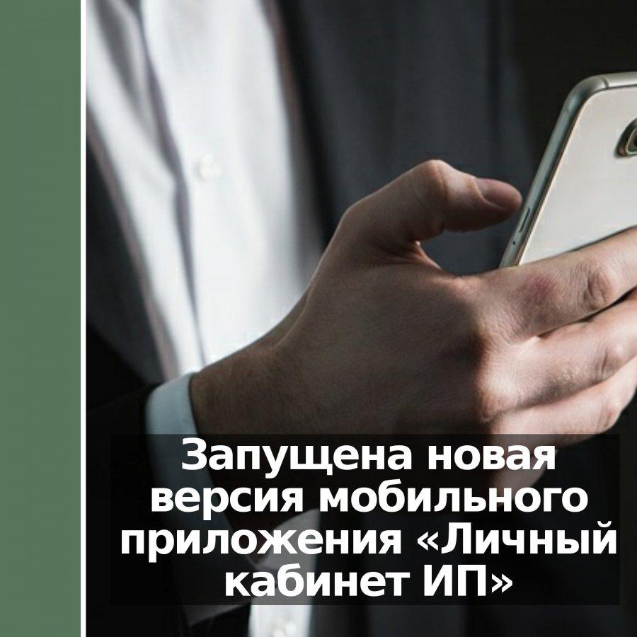 Запущена новая версия мобильного приложения «Личный кабинет ИП»