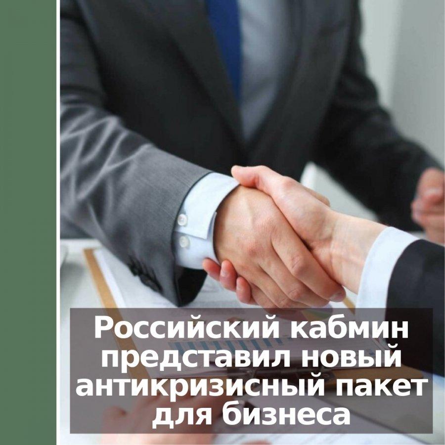 Российский кабмин представил новый антикризисный пакет для бизнеса