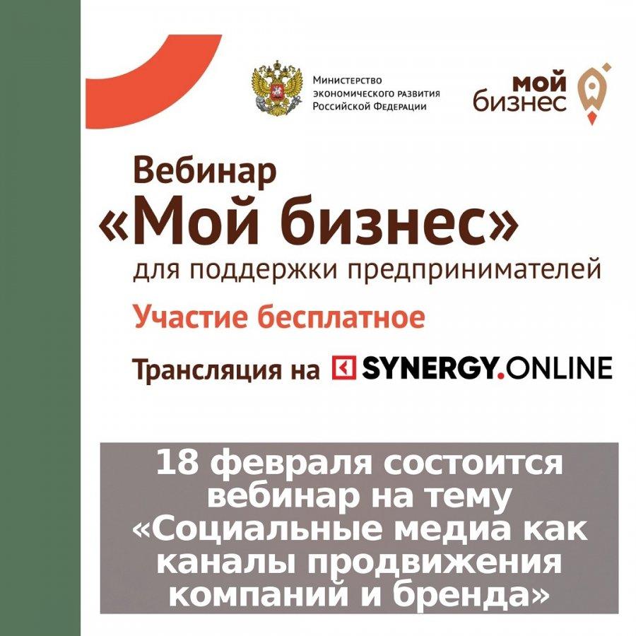 18 февраля состоится вебинар на тему «Социальные медиа как каналы продвижения компаний и бренда»