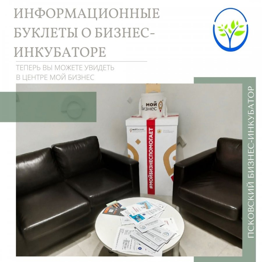 Информационные буклеты о бизнес-инкубаторе